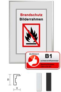 """Zertifizierter Standard B1 Brandschutzrahmen """"Econ eckig"""""""