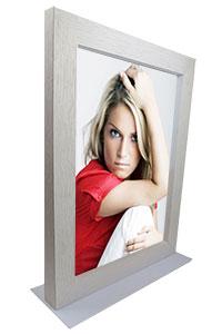 Duplexo Doppelglas-Rahmen mit Aufsteller