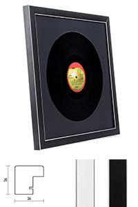"""Holzrahmen """"Moulins"""" für Vinyl-Schallplatten"""