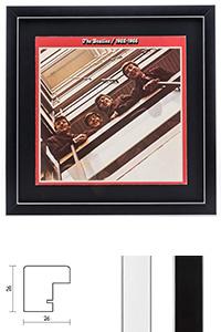 """Holzrahmen """"Moulins"""" für Vinyl-Schallplatten mit Cover"""