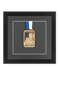 Medaillenrahmen 20x20 cm, schwarz