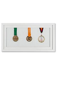 Medaillenrahmen 25x50 cm, wei�