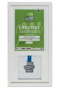 Medaillen- & Urkundenrahmen 25x50 cm, weiß