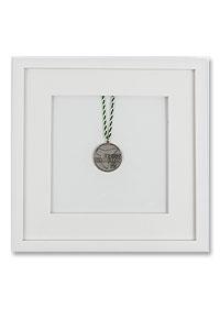 Medaillenrahmen 30x30 cm, wei�