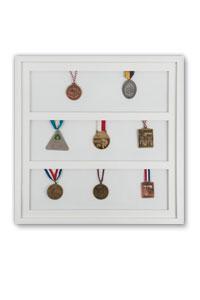 Medaillenrahmen 50x50 cm, wei�