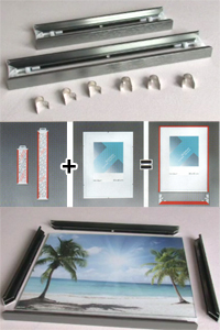 Aluminium-Leistenpaare Quadro
