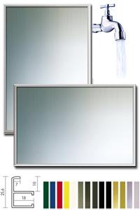 Badezimmer-Spiegel  Quadro aus Aluminium