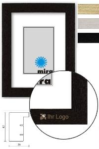 Holzrahmen mit Logo Nouvelle