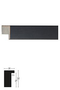 Holzrahmen Sonderzuschnitt, Blackwoods 20x32