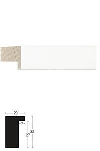 Holzrahmen Sonderzuschnitt, Whitewoods 20x32