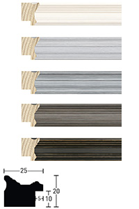 Holzrahmen Sonderzuschnitt, Antigo 25