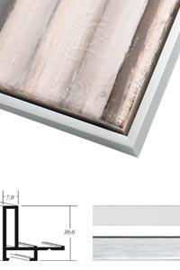 schattenfugenrahmen bilderrahmen f r keilrahmen 50x70 cm. Black Bedroom Furniture Sets. Home Design Ideas