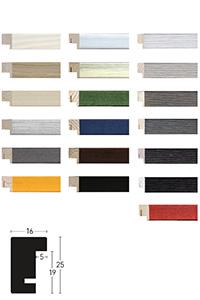 Holzrahmen Sonderzuschnitt, Quadrum 16x25