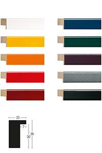 Holzrahmen Loft Color 20