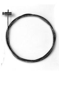 2 St�ck Stahlseile 1,3mm/200cm mit Schraubgleitern