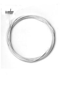 2 Stück Stahlseile weiss 1,5mm/200cm mit Schraubgleitern