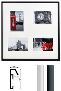 Galerie-Bilderrahmen Junior Quadratisch 4 Bilder