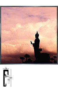 "Gerahmtes Bild ""Buddha"" mit Alurahmen Alpha"