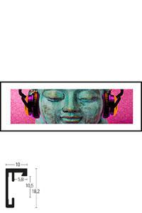 "Gerahmtes Bild ""Buddha Chill"" mit Alurahmen C2"
