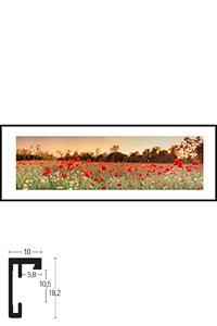 """Gerahmtes Bild """"Poppy Flower Field"""" mit Alurahmen C2"""