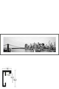 "Gerahmtes Bild ""New York City Skyline"" mit Alurahmen C2"