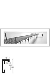 """Gerahmtes Bild """"Footbridge black and white"""" mit Alurahmen C2"""