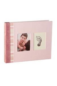 Babybuch mit Stoffbezug und Abdruck