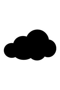 Motiv Kreidetafel als Wolke
