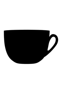Motiv Kreidetafel als Tasse