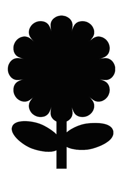 Motiv Kreidetafel als Blume