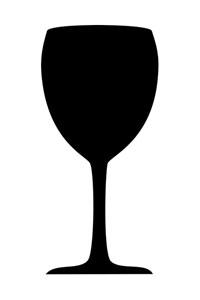 Motiv Kreidetafel als Weinglas
