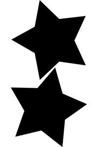 Motiv Kreidetafel als Stern