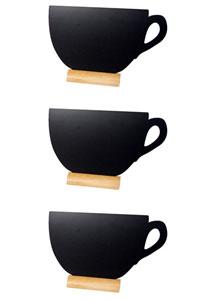 3er Set Mini Memoboard zum Hinstellen als Tasse