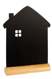 Kreide-Memoboard zum Hinstellen als Haus