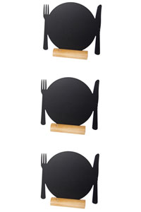 3er Set Mini Memoboard zum Hinstellen als Teller