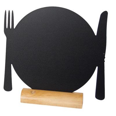 Kreide-Memoboard zum Hinstellen als Teller