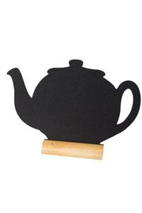 Kreide-Memoboard zum Hinstellen als Teekanne