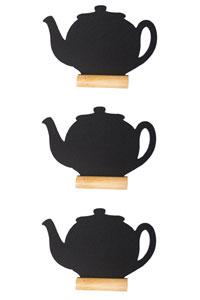 3er Set Mini Memoboard zum Hinstellen als Teekanne