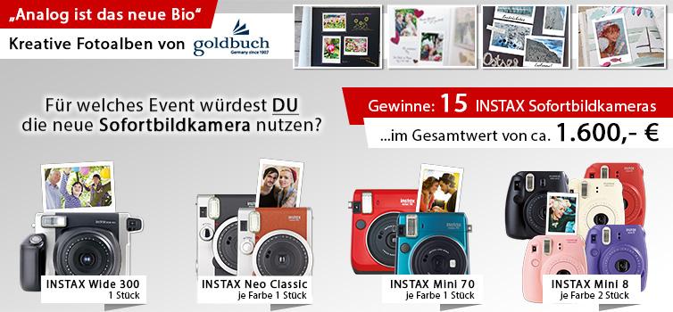Gewinnspiel INSTAX Sofortbildkamera