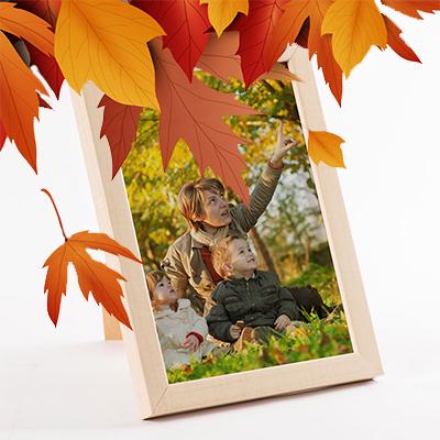 Herbst-Bilderrahmen